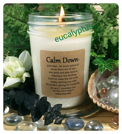 "Calm Down Soy Wax Candle ""SOLD OUT"""
