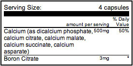 Firm Foundation Calcium Nutritional Info