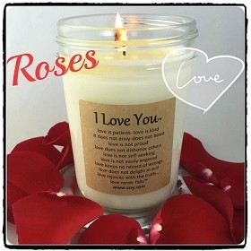 I Love You Soy Wax Candle