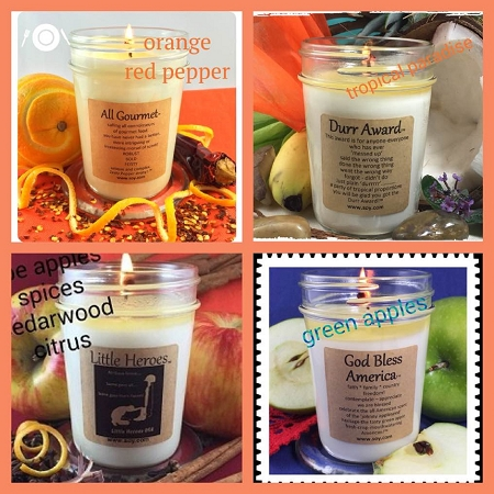 """DELICIOUS"" 4 Pack Soy Wax Candle Collection"