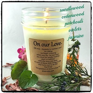 """On Our Love"" Soy Wax Candle"