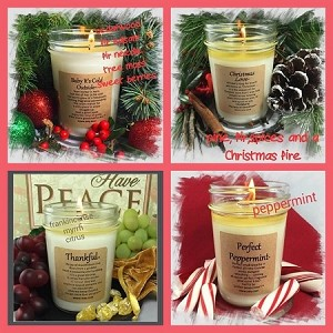 """HOLIDAY"" 4 Pack Soy Wax Candle Collection"