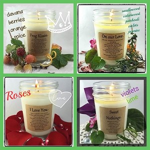 """LOVE NOTES"" 4 Pack Soy Wax Candle Collection"