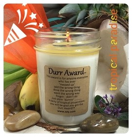 Durr Award Soy Wax Candle